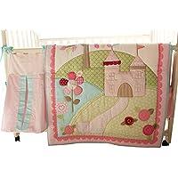 ベビー女の子リトルフェアリープリンセス城10個ベビーベッド寝具セットwith Musical Mobile