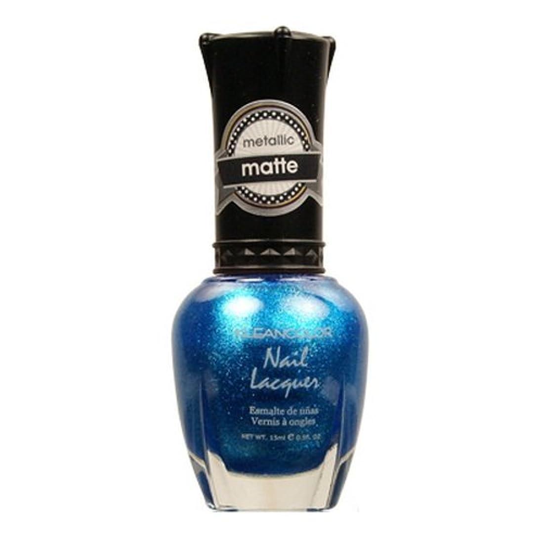 西部気分が悪い慈悲KLEANCOLOR Matte Nail Lacquer - Blue Mist (並行輸入品)
