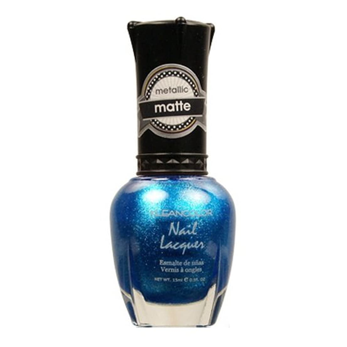 しかしながらストライプ楽観的KLEANCOLOR Matte Nail Lacquer - Blue Mist (並行輸入品)