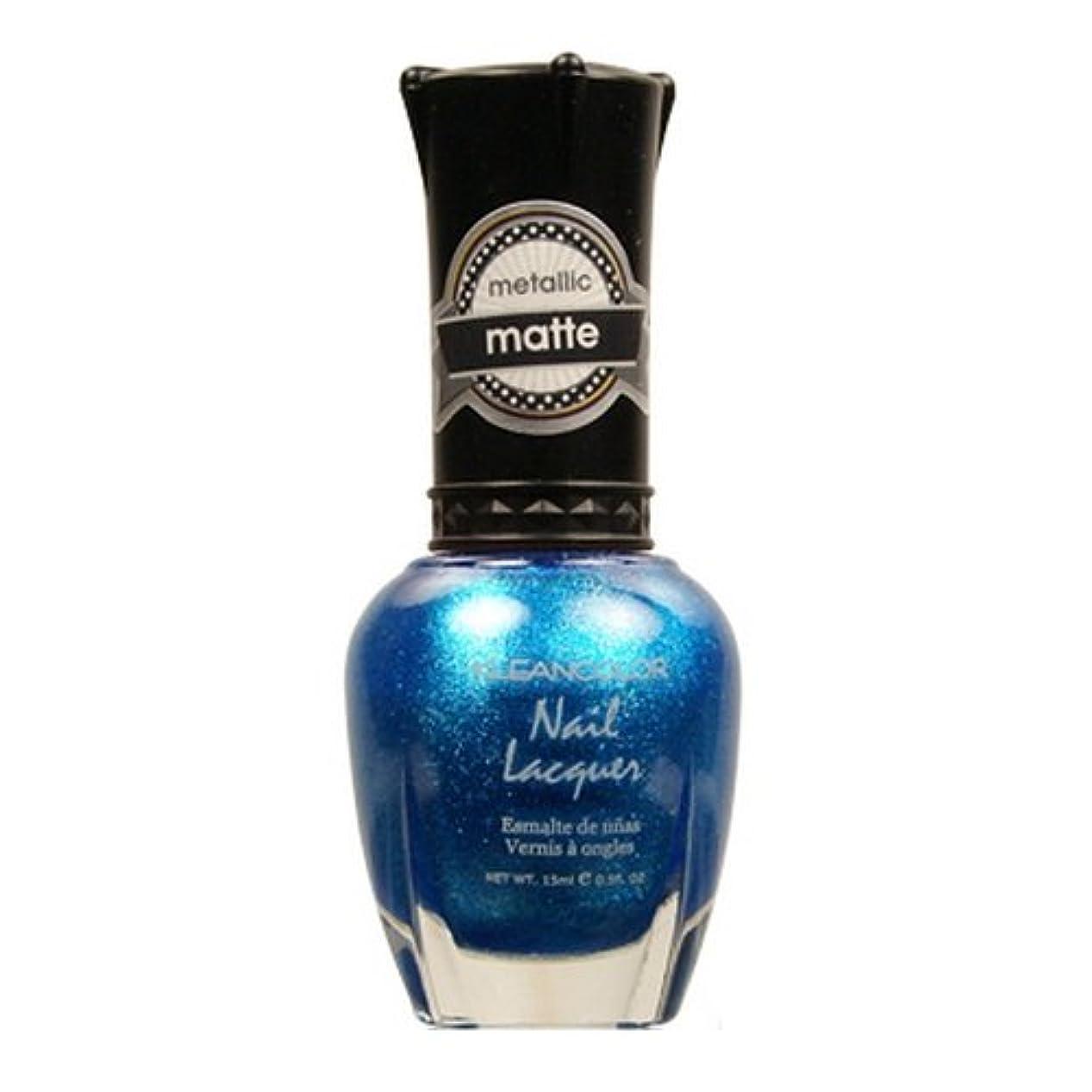 徹底的にレッスン噛む(6 Pack) KLEANCOLOR Matte Nail Lacquer - Blue Mist (並行輸入品)