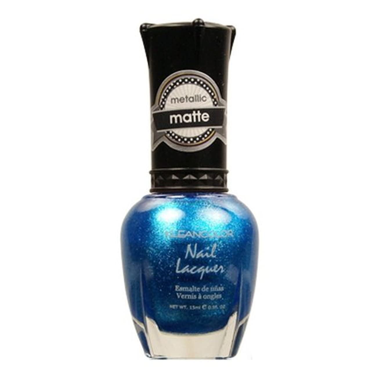宣言ランチョン金貸しKLEANCOLOR Matte Nail Lacquer - Blue Mist (並行輸入品)