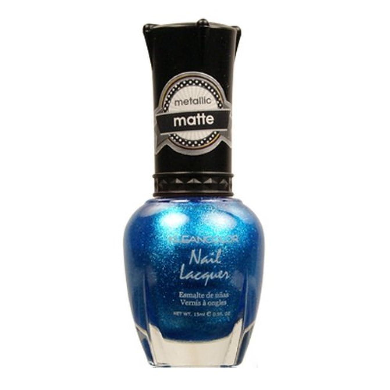 大佐レイプ気づかない(6 Pack) KLEANCOLOR Matte Nail Lacquer - Blue Mist (並行輸入品)