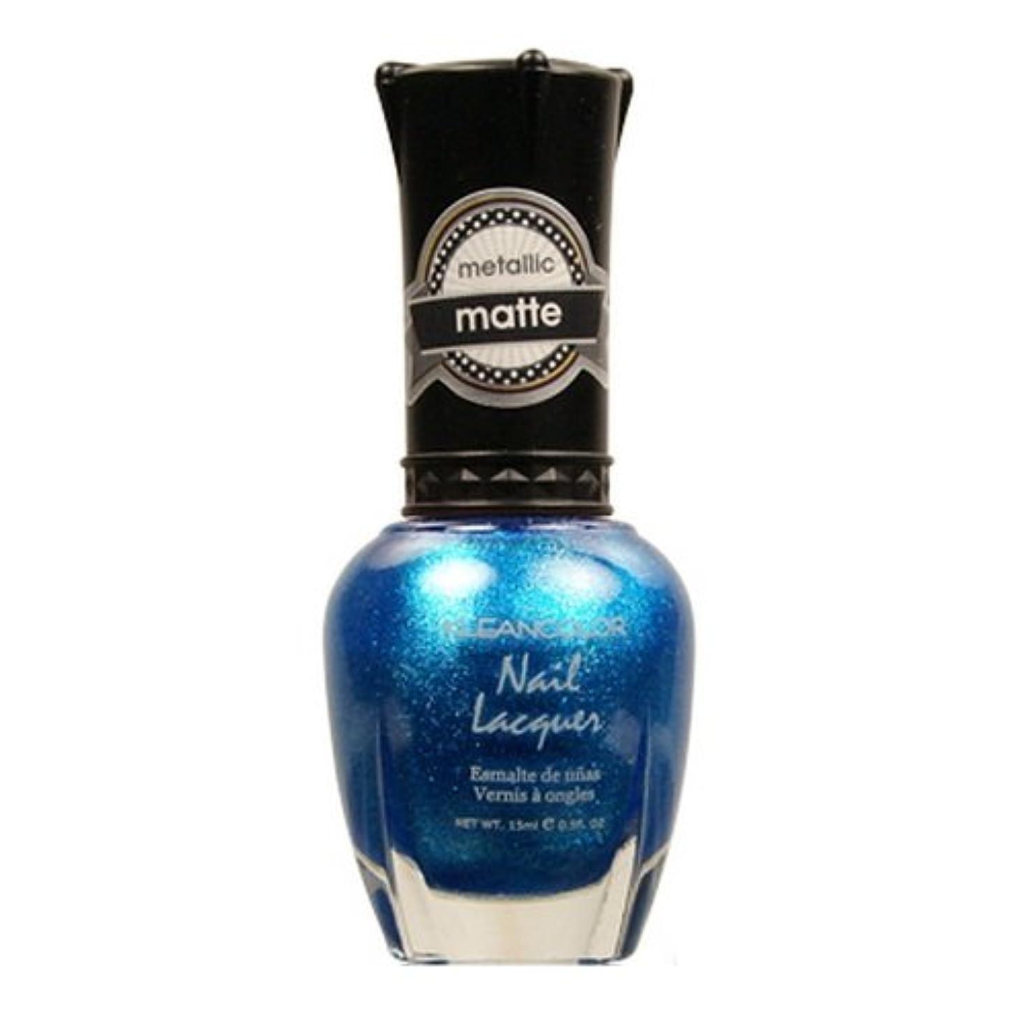 川それに応じてサーバ(6 Pack) KLEANCOLOR Matte Nail Lacquer - Blue Mist (並行輸入品)