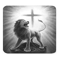 セーラユニークなカスタム長方形マウスパッド拡張、ヴィンテージライオン聖書の詩の絵、ゲーム大型マウスパッドマットPM1230
