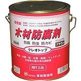 高性能 木材防腐剤: クレオトップ 【ブラウン】2.5L缶