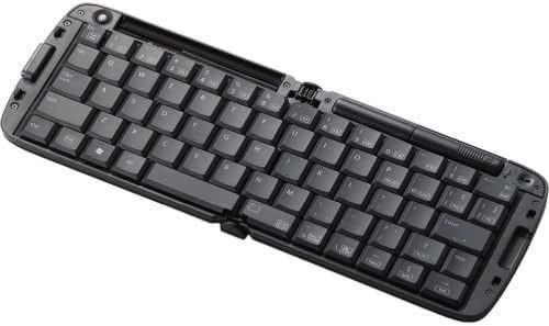 【1900年モデル】ELECOM スマートフォン対応折りたたみBluetoothキーボード ブラック TK-FBP017BK