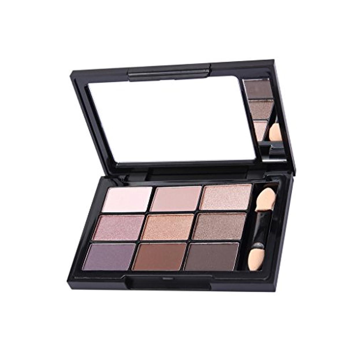連合女性迅速9色 パレットセット メイクアップ アイシャドウ 素敵な 目化粧用 日常カラー 全4種 - 多色1