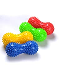1個入 高品質 多機能 マッサージボールストレッチボール 筋膜リリース色のランダム