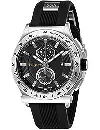 9bf6101b72 [サルヴァトーレフェラガモ]Salvatore Ferragamo 腕時計 GRANTURISMO ブラック文字盤 FFJ030017 メンズ 【 並行輸入