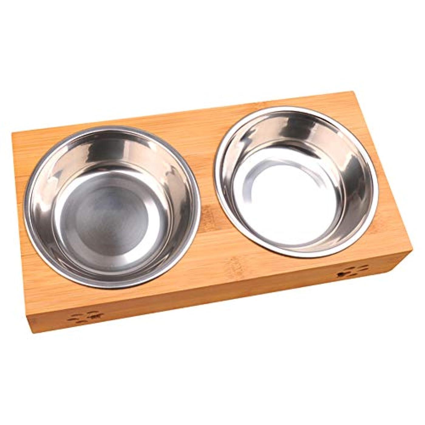 LIFE防水耐久性のある非毒性ペットボウル猫簡単にきれいな犬皿ダブル食品水スタンドフィーダ食器ステンレス鋼ペット食器