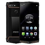 Poptel P60スマートフォンの4G携帯電話6ギガバイトのRAM + 128ギガバイトROM IP68防水5.7インチのAndroid 8.1 5000mAにバッテリーKKmoonは、指紋IDの顔IDと国内の充電スタンド オレンジ6ギガバイト+ 128ギガバイト