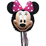 ディズニー ミニーマウス 3D プルストリング ピニャータ 写真の通りワンサイズ