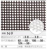 トリカルネット プラスチックネット CLV-N-9-1000 黒 大きさ:幅1000mm×長さ2m 切り売り