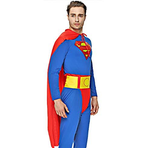 HC fan スーパーマン コスプレ 衣装 ハリウッド コスチューム パーティー ハロウィン クリスマス イベント マラソン大会 忘年会 仮装 誕生日 (フリーサイズ)