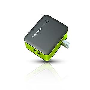 モバイルバッテリー ACアダプター スマホ バッテリー USB充電器 折畳式プラグ搭載 充電器3350mAh 携帯 バッテリー 充電器 2USBポート内蔵LEDライト iPhone Android Galaxy Xperia Nexus等対応iFORWAY