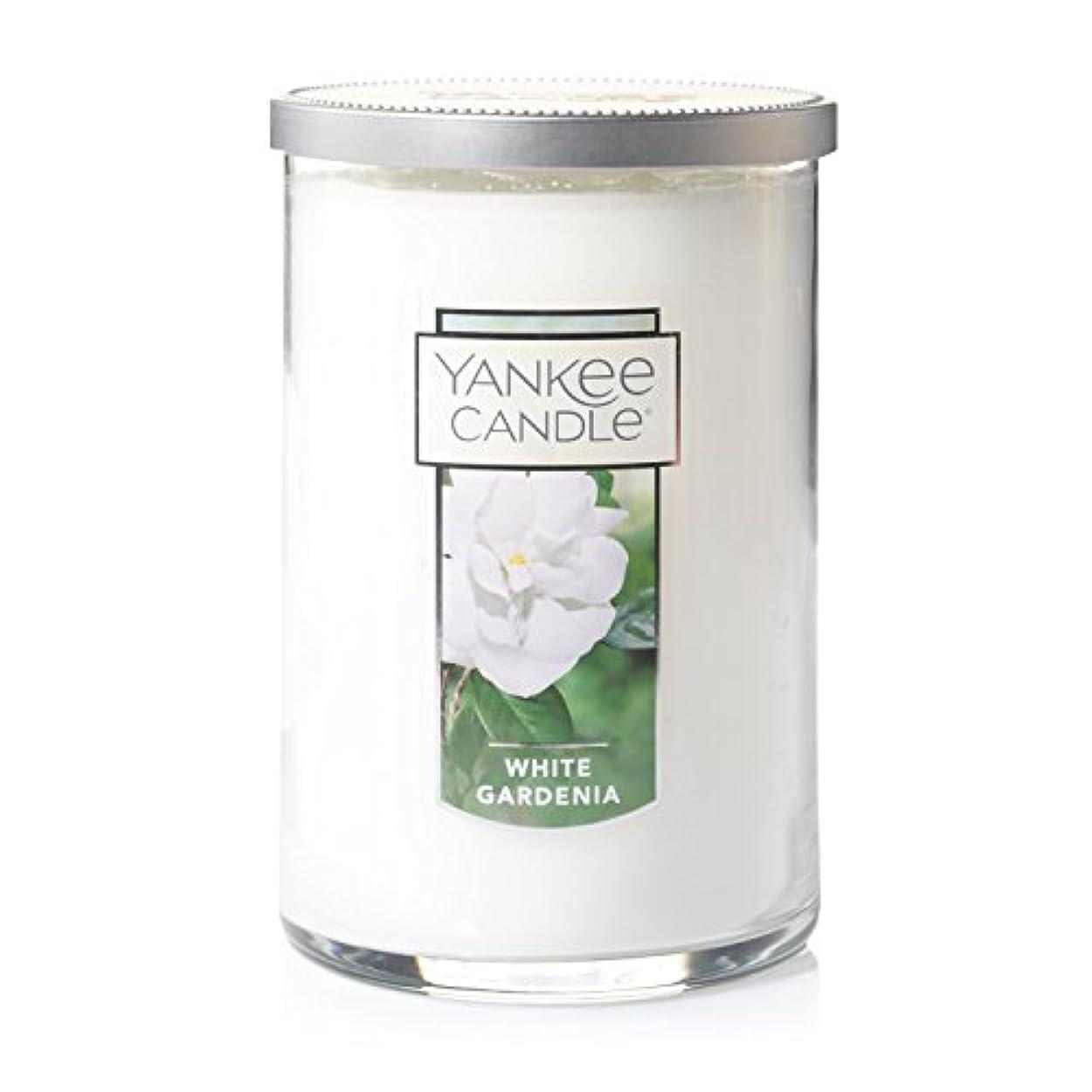 巧みなジョブジュニアYankee Candle White Gardenia、花柄香り Large 2-Wick Tumbler Candle 1230627