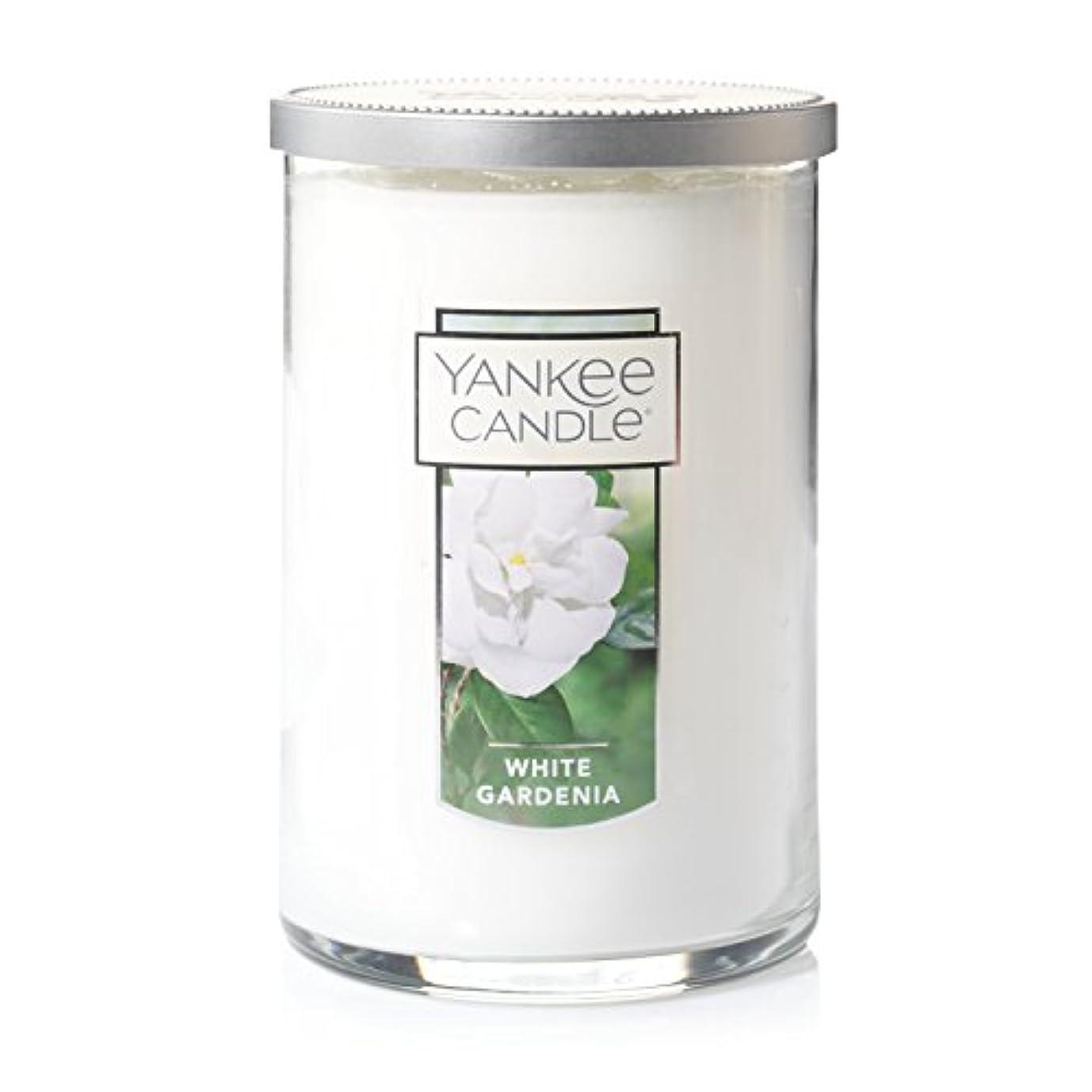 舞い上がる彫刻家一方、Yankee Candle White Gardenia、花柄香り Large 2-Wick Tumbler Candle 1230627