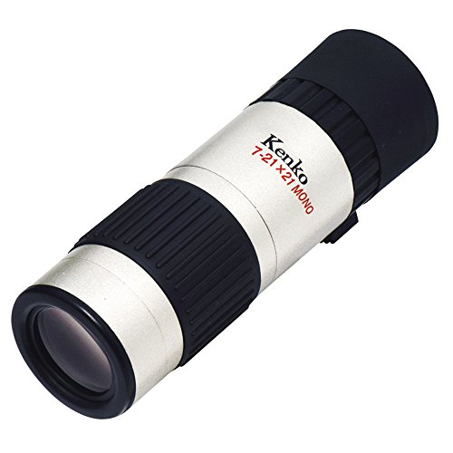 Kenko 単眼鏡 7-21X21-S 7~21倍 ズームタイプ 21口径 レンズクロス付属 シルバー K01M