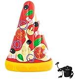 ピザ浮遊列、折りたたみインフレータブルネットリクライニングピザ形状の浮遊ベッド泳ぐリング、浮遊列ピザ水浮遊クッションメッシュ浮遊ベッド (Color : Pizza B, Size : 188x130CM)