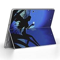 Surface go 専用スキンシール サーフェス go ノートブック ノートパソコン カバー ケース フィルム ステッカー アクセサリー 保護 ラブリー 人物 妖精 夜 005720