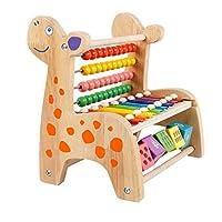 教育玩具 発達幼児教育おもちゃ学習音楽活動キューブゲームセンターの多くの学習と開発機能とスキル教育玩具 (Color : Beige, Size : Free size)