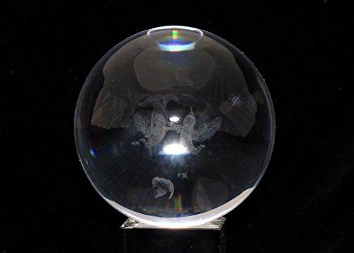 3D クリスタル レーザー アート 球体 エンジェル 3D Crystal ...