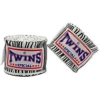 TWINS(ツインズ) バンテージ ホワイト ゼブラ 伸縮タイプ 2個1セット ムエイタイ ボクシング MMA 格闘技 グローブ