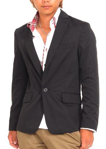 テーラードジャケット メンズ 長袖 ジャケット テーラード 1ボタン きれいめ スーツ スペード