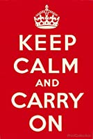 """プリントコレクションKeep Calm and Carry On 16"""" x 24"""" PRT-016x024x000-19010u2"""