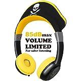 OneOdioキッズヘッドフォンポータブルオーバーイヤーヘッドフォン(最大85dB音量制限およびオーディオ共有ポート付き)有線ノイズキャンセリングヘッドフォン子供用子供男の子用イヤホン