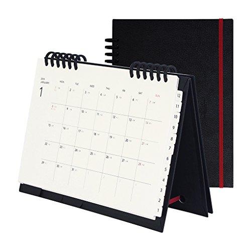カール事務器 カレンダー 手帳 2018年 1月始まり マンスリー A5 レザー CCT-1801