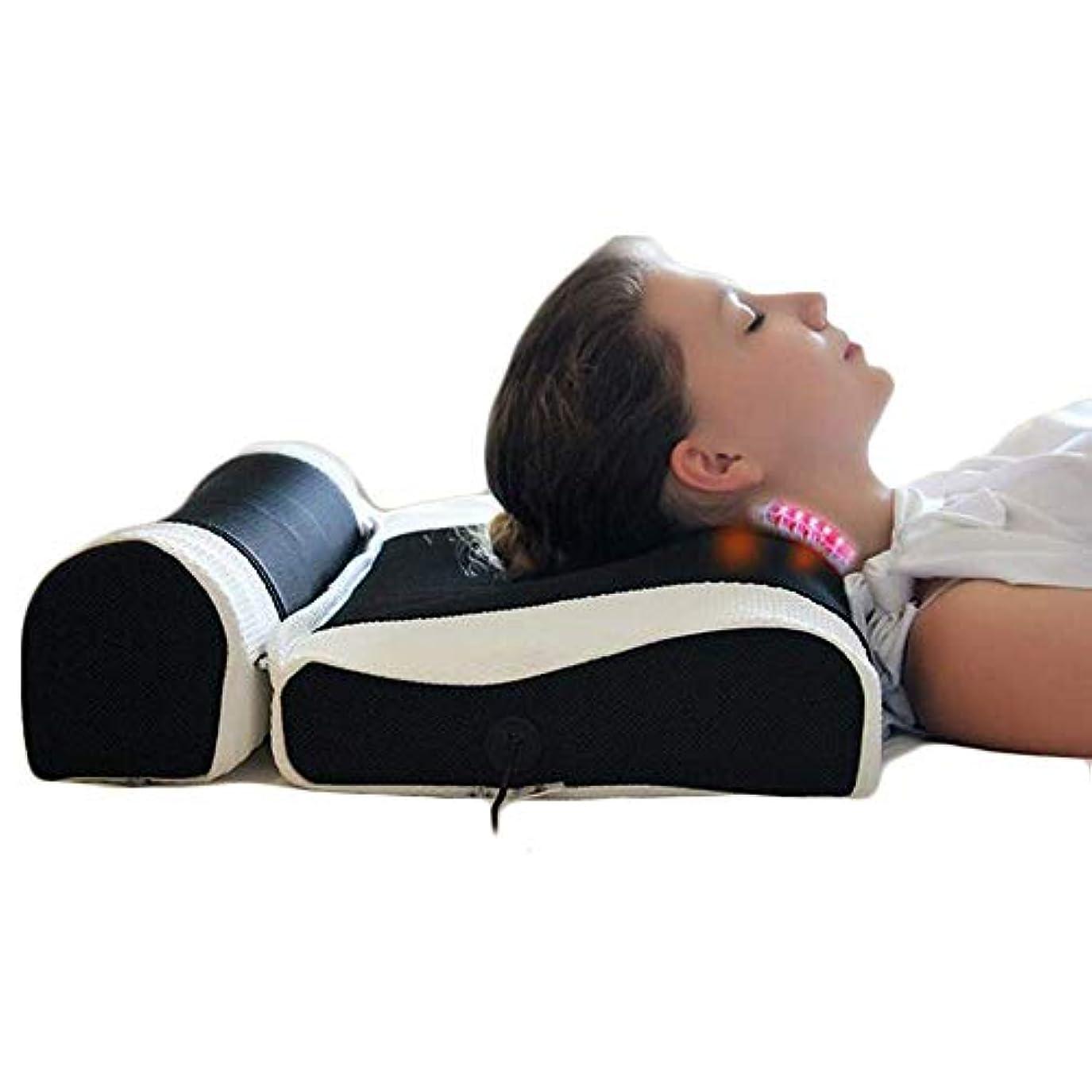 Liuliangmeiの首のマッサージと肩の指の圧力緩和クッション、リリーフネックとサポートの肩の上部脊椎緩い痛みマッサージトラクション
