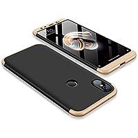 Xiaomi Mi 6X/Xiaomi Mi A2 ケース, CHENXI 全面保護 ケース 品質PC カバー 3つのセクションのデザイン ケース 超薄型 コンビネーシ ョン ハイブリッド カバー 擦り傷防止 衝撃吸収 人気 保護 ケース カバー ために Xiaomi Mi 6X/Xiaomi Mi A2 黒 ゴールド