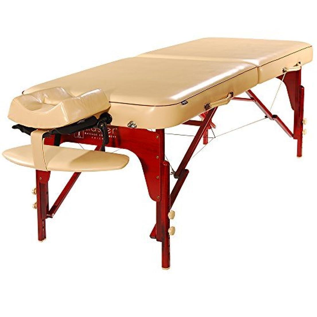束ねる王位餌Master Massage Monroe Memory Foam Luster PU Portable Massage Table Package Cream 30 Inch [並行輸入品]