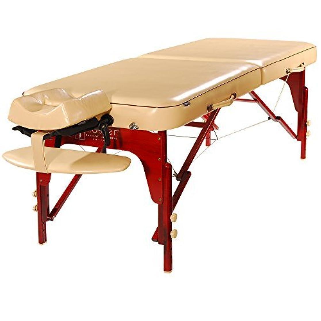 サイバースペース憂慮すべき下Master Massage Monroe Memory Foam Luster PU Portable Massage Table Package Cream 30 Inch [並行輸入品]