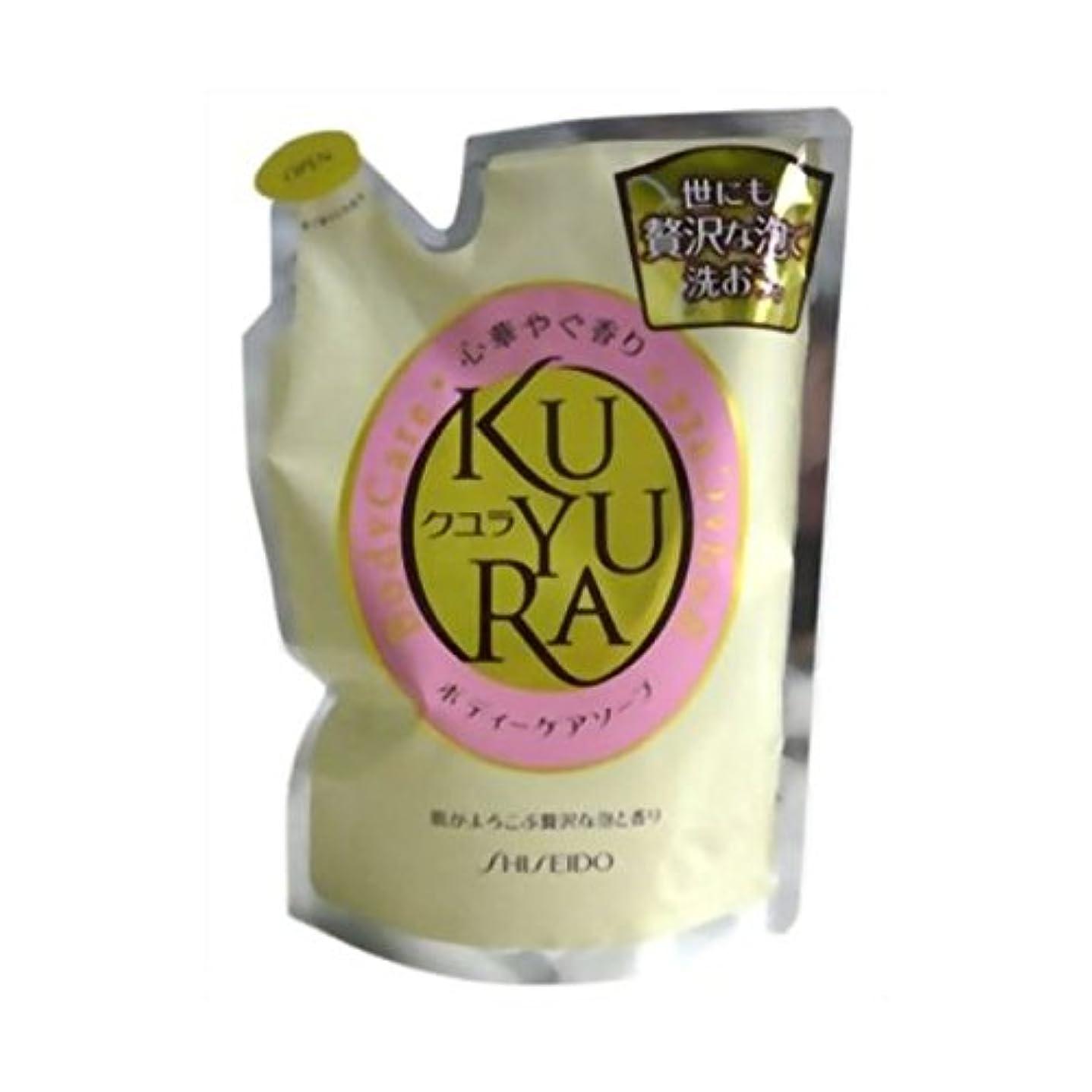 風景名誉ぎこちない【お徳用 3 セット】 クユラ ボディケアソープ 心華やぐ香り つめかえ用400ml×3セット