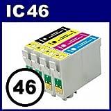 エプソン インクジェットプリンタ用インク IC46シリーズ対応 互換インク ICBK46 (ブラック)