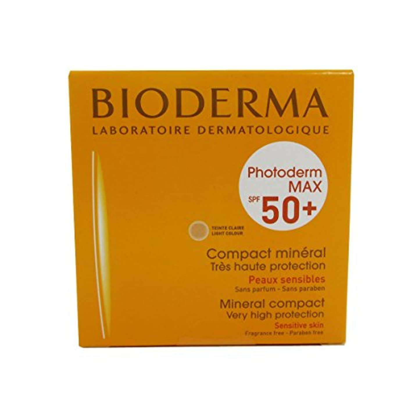 巨大逆さまに剛性Bioderma Photoderm Max Compact Mineral 50+ Light 10g [並行輸入品]