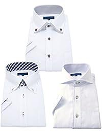 men's uno(メンズウーノ) 半袖ワイシャツ 3枚セット メンズ 形態安定