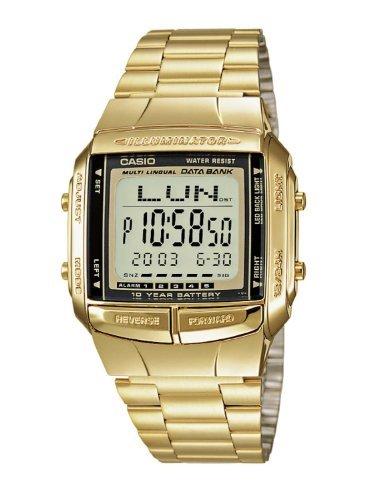 [カシオ]CASIO データバンク 腕時計 メンズ ゴールド...