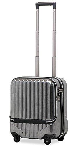 スーツケース 機内持込 軽量 小型 フロントオープン 【W-...