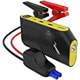 ROOBOOST 600A Peak 12000mAh 12V Portable Car Jump Starter (Up to 4.0L Gas and 2.0L Diesel Engine) Auto Battery Booster Smart Jumper Cable and Power Bank Phone Charger Built-in LED Light and Compass, RB9 2 Yr Warranty. (RB9)