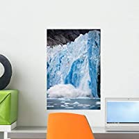 Icebergs Calving from Dawes Wall Mural by Wallmonkeys Peel and Stick Graphic (18 in H x 12 in W) WM52871 [並行輸入品]