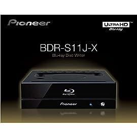 Pioneer パイオニア Ultra HD Blu-ray UHDBD再生対応 BD-R 16倍速書込み 特殊塗装ブラック筐体 BD/DVD/CDライター ピアノブラック BDR-S11J-X
