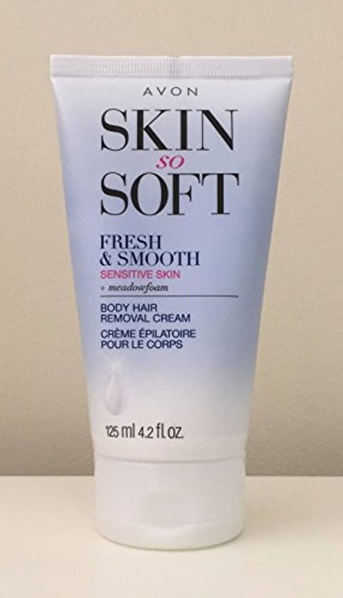 ソブリケットレタス海軍AVON Fresh & Smooth Hair Removal Cream Sensitive Skin 4.2 Oz. [並行輸入品]