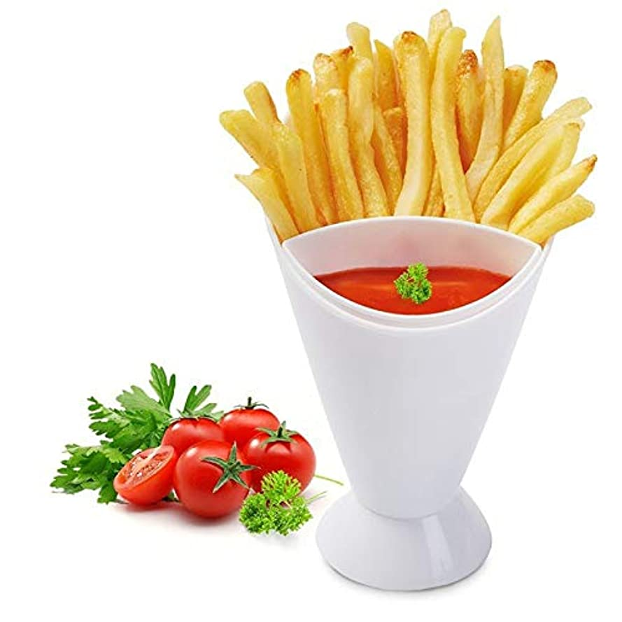 ベーシック石ケイ素Maxcrestas - French Fry Chips Cone Salad Dipping Cup Kitchen Restaurant Potato Tool Tableware Assorted Sauce Ketchup...