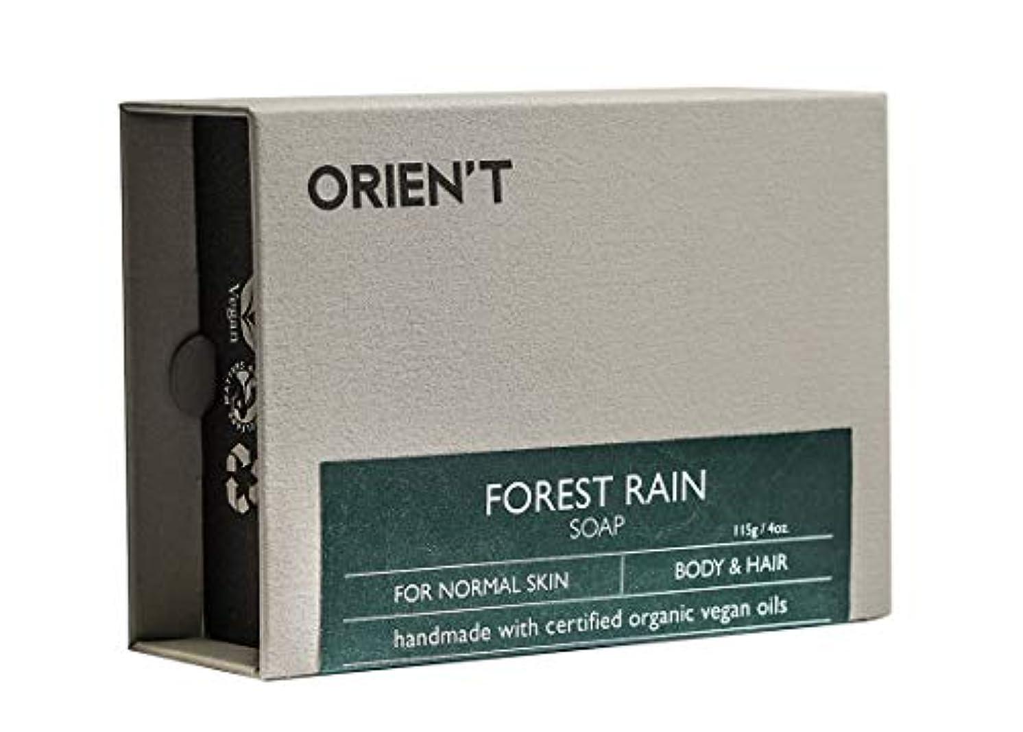 サイトラインメッセージ野な【 ORIEN'T Forest Rain Soap 】「霖」手工皂、ECOCERTオーガニック認定原料