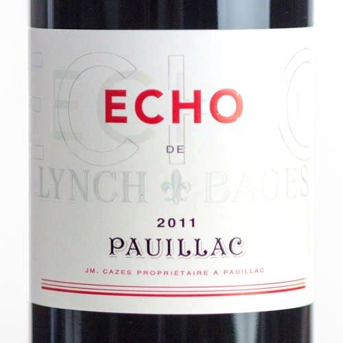 エコー・ド・ランシュ・バージュ [2011](赤ワイン・ボルドー ポイヤック シャトー・ランシュ・バージュ セカンド)【750ml】Chateau HAUT BAGES ECHO DE LYNCH BAGES 2011