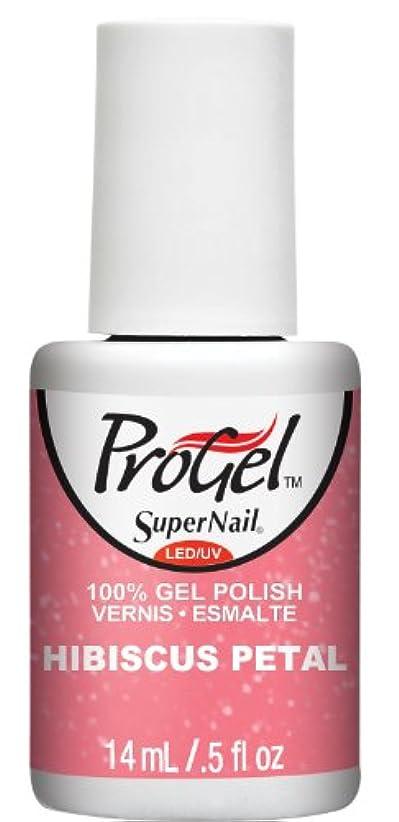 ボトル漫画含意SuperNail ProGel Gel Polish - Hibiscus Petal - 0.5oz / 14ml