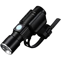 Zhaozhe懐中電灯 LED 強力 USB充電式 自転車ヘッドライト 3段階切替 最大200m 多用途 防水 ライトマウント付属